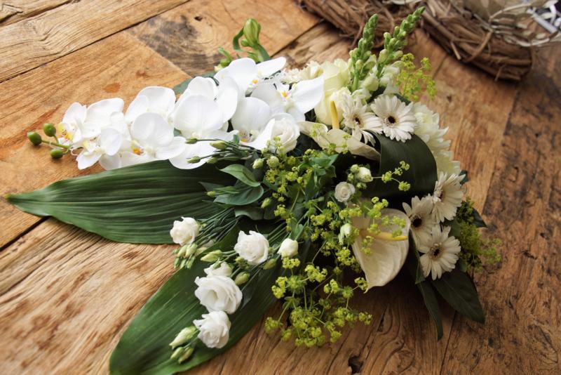 Rouwtak met Orchideeën