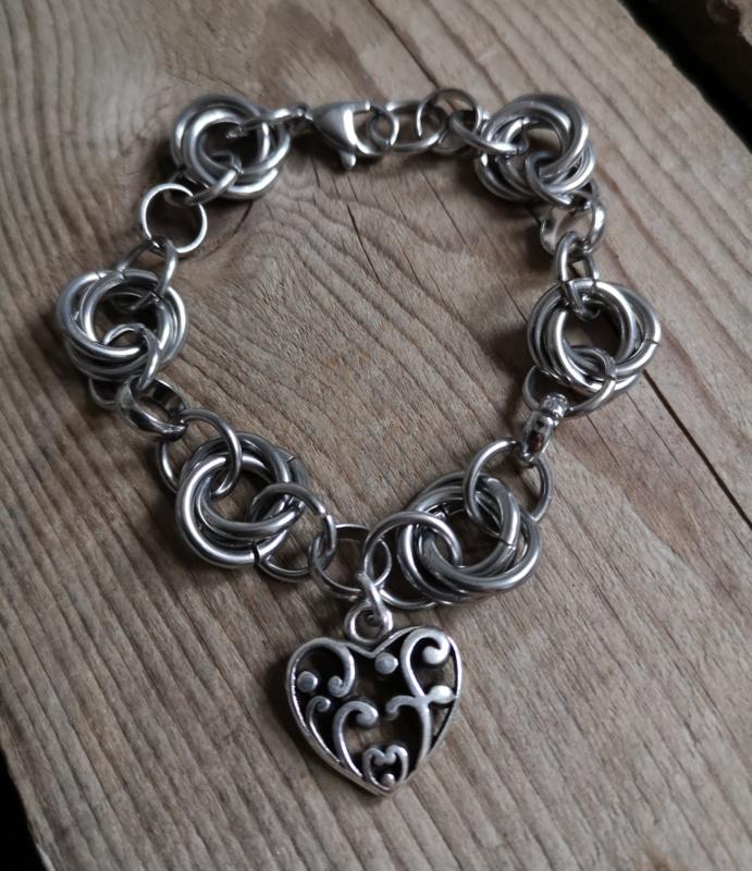 "Stainless Steel Rings ""heart"""