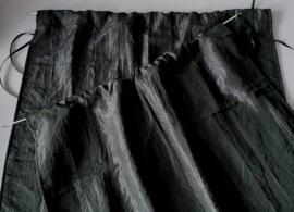 Set van 2 gordijntjes - zwart