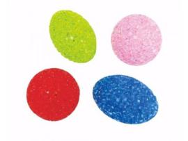 Glitterballetjes, 2 rond en 2 ovaal