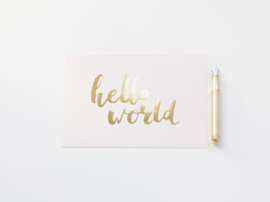 HELLO WORLD | GOUD FOLIE