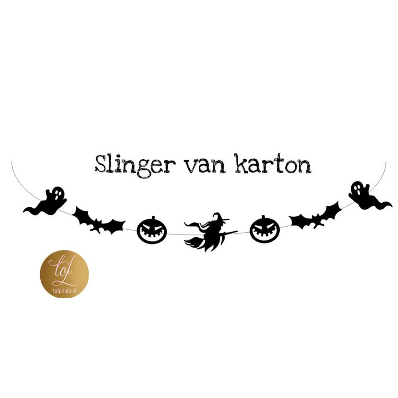 Halloween Figuurtjes Maken.Slinger Karton Halloween Halloween Tof Prints