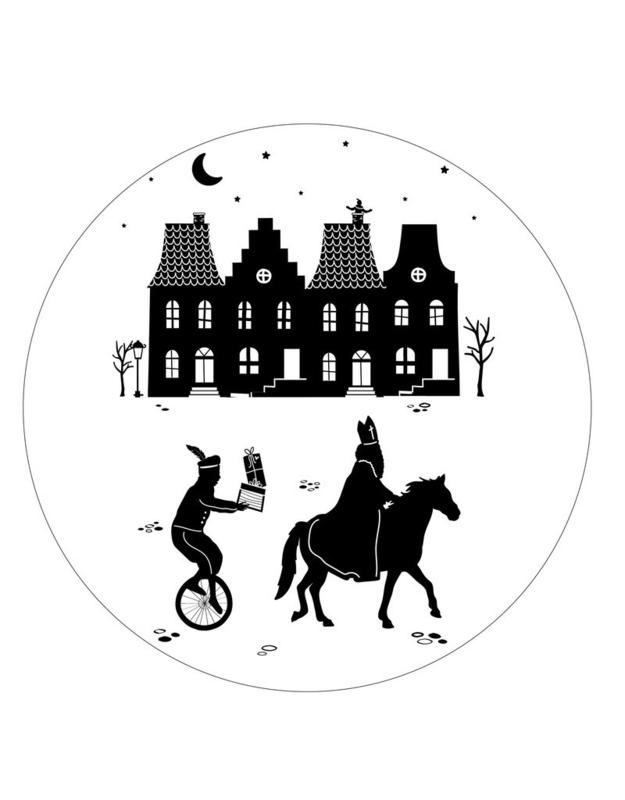 Muurcirkel Sinterklaas Grachtenpanden