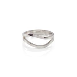 Zilveren ring Waves