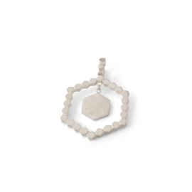 Zilveren Hexa hanger medium