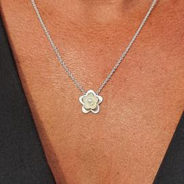 Bloemen collier smal/medium