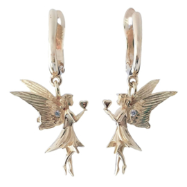 Golden angel earstuds