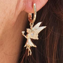 Golden angel earstuds