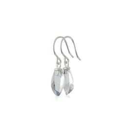 Rosegold earrings with prasiolite leaf drops