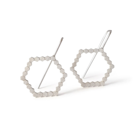 Silver Hexa earring medium