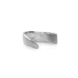 Zilveren ring Waves smal