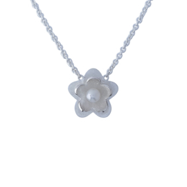 Lobem bloemen collier smal/medium