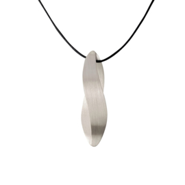 Silver pendant Waves large
