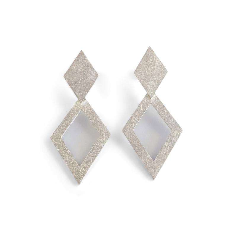 Zilveren Cometa oorbellen
