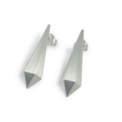 Zilveren oorstekers Hexa