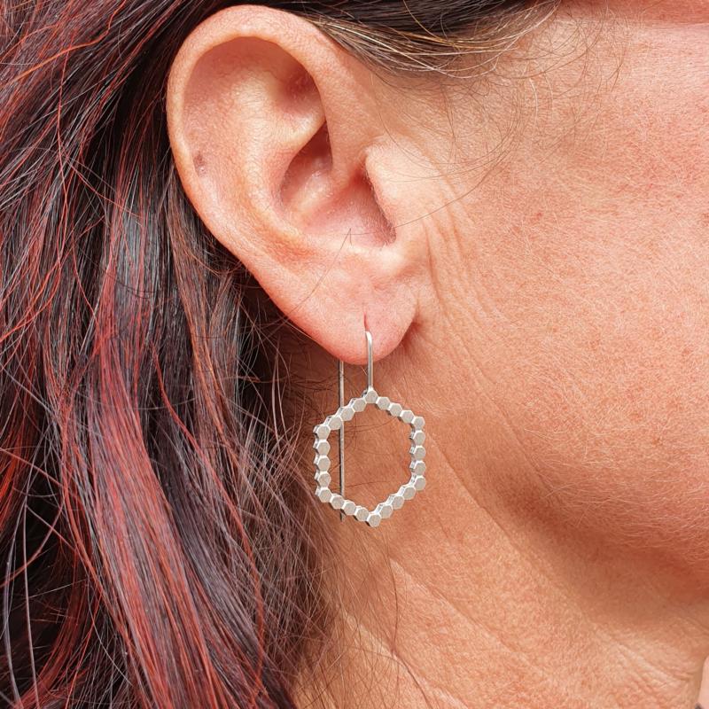 Hexa oorbellen medium