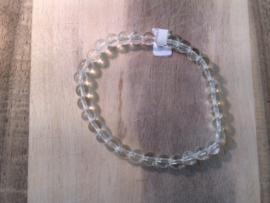 Bergkristal armband ronde kralen 6mm