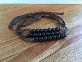 Obsidiaan armband