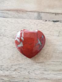 Jaspis rood hart