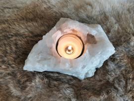 Bergkristal theelichthouder 601 gram