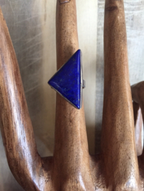 Lapis lazuli driehoek maat 15,5