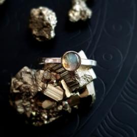 Zilveren Labradorite ring