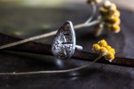 Toermalijn zilveren ring