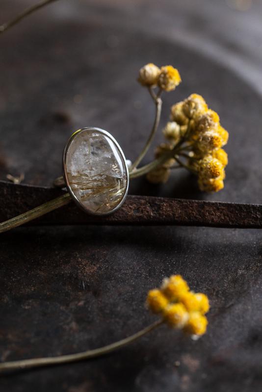 Zilveren Rutiel ring