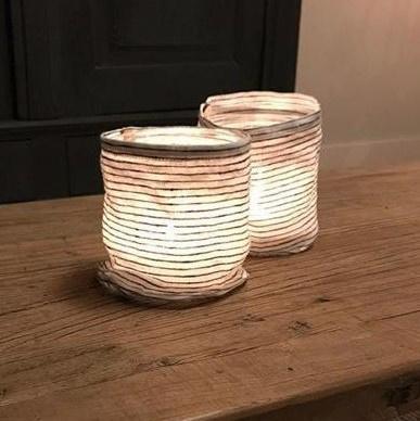 windlicht, inclusief glas