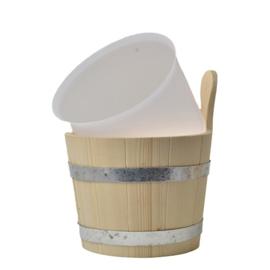 Kunststof inzet voor sauna emmer, 5ltr.