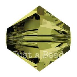 5328 biconische kraal 8 mm olivine (228)