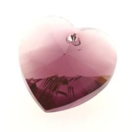 6228 Xilion heart pendant 18 x 17,5 mm amethyst blend (721)