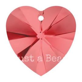 6228 Xilion heart pendant 18 x 17,5 mm Padparadscha (542)