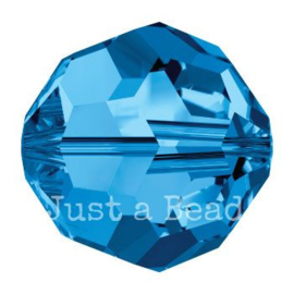5000 kraal rond facet 5 mm capri blue (243)