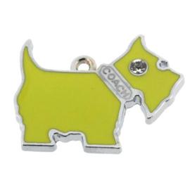 bedel epoxy hondje geel 22 x 28 mm (strass oogje)