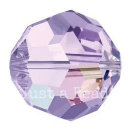 5000 kraal rond facet 6 mm violet AB (371 AB)