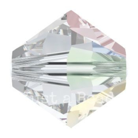 5328 biconische kraal 5 mm crystal AB (001 AB)