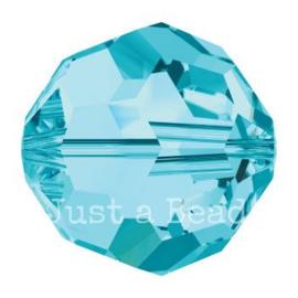 5000 kraal rond facet 5 mm aquamarine (202)