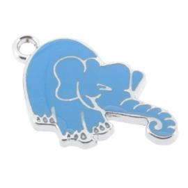 bedel epoxy blauwe olifant 28 x 15 mm