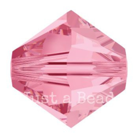 5328 biconische kraal 6 mm light rose (223)