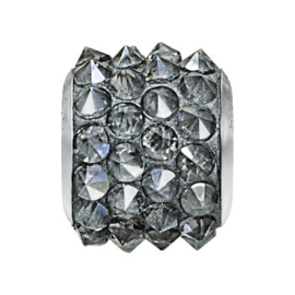 80901 BeCharmed Pavé Spikes Bead Crystal Silver Shade 001 SSHA 11,5 mm