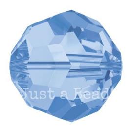 5000 kraal rond facet 6 mm light sapphire AB (211 AB)