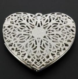 medaillon hart groot opengewerkt 58 x 58 mm NPL
