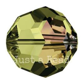 5000 kraal rond facet 6 mm olivine AB (228 AB)