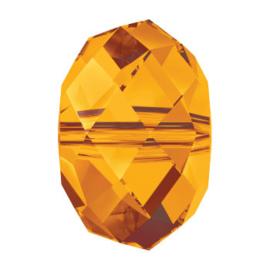 5041 kraal briolette 18 mm crystal copper (001 COP) (large hole)