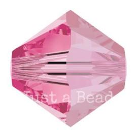 5328 biconische kraal 6 mm rose (209)