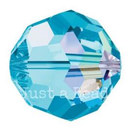 5000 kraal rond facet 5 mm aquamarine AB (202 AB)