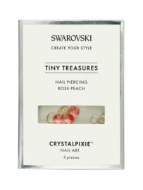 "Crystal Pixie ""Tiny Treasures"" Nail Piercing Rose Peach"