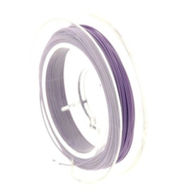 Rolletje staaldraad 0.38 mm nyloncoated lila p/10 mtr