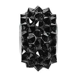 80401 BeCharmed Pavé Spikes Bead Jet (208) 16 mm